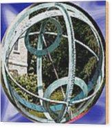 Armillary Sphere Wood Print