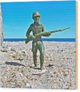 Army Man  Wood Print