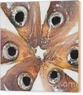 Arrangement Of Small Fish Smelt Wood Print