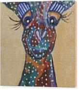 Girafe Art Wood Print