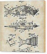 Artificial Bait Patent 1923 - Vintage Wood Print