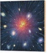 Artwork Of The Big Bang Wood Print