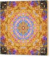 Sun Sparkle Mandala  Wood Print