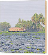 Asia, India, Kerala (backwaters Wood Print