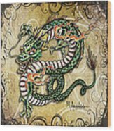 Asian Dragon Wood Print