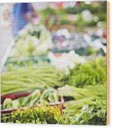 Asian Market Vegetable Wood Print by Tuimages