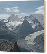 T-303504-athabasca Glacier In 1957 Wood Print