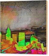 Atlanta Skyline Watercolor Wood Print