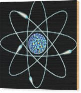 Atom Wood Print