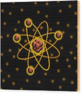 Atomic Structure Wood Print