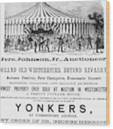 Auction Advertisement Wood Print