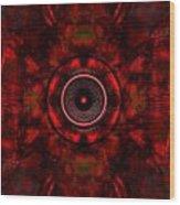 Audio Kaleidoscope Wood Print