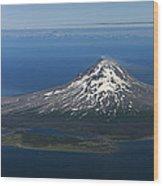 Augustine Volcano Cook Inlet Alaska Wood Print