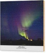Aurora Australis Wood Print by David Barringhaus