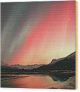 Aurora Borealis Northern Lights Wood Print