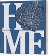 Austin Street Map Home Heart - Austin Texas Road Map In A Heart Wood Print