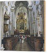 Austria. Krems. G�ttweig Abbey. Church Wood Print