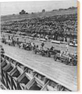 Auto Race, C1922 Wood Print