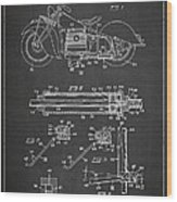 Automatic Motorcycle Stand Retractor Patent Drawing From 1940 Wood Print by Aged Pixel