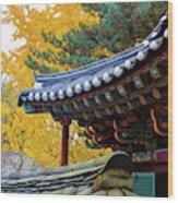 Autumn Color At Namsangol Folk Village Wood Print