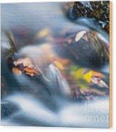 Autumn Falls Wood Print