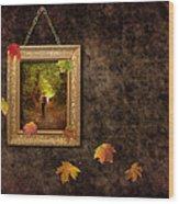 Autumn Frame Wood Print