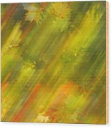 Autumn Leaves On The Abstract Background Wood Print
