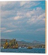 Autumn On Lake George Wood Print