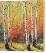 Autumn's Glow Wood Print