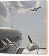 Aviation Past And Present  Wood Print