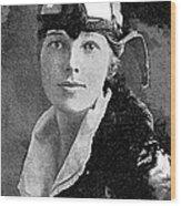 Aviator Amelia Earhardt No Date-2010 Wood Print