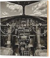 Cockpit Of A B-17 Wood Print