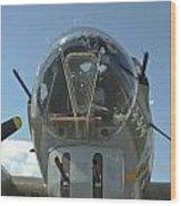 B-17 Nose Wood Print