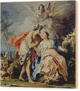 Bacchus And Ariadne Wood Print