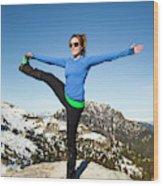 Backcountry Yoga Wood Print