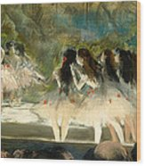 Ballet At The Paris Opera Wood Print