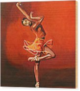 Ballet Lady Wood Print