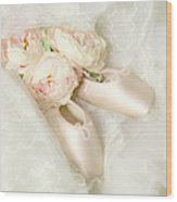 Ballet Shoes Wood Print