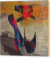 Ballet Slippers Wood Print