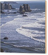 Bandon Beach Seastacks 4 Wood Print