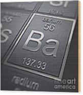 Barium Chemical Element Wood Print