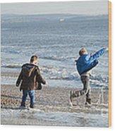 Barton On Sea Tyler And Harvey Wood Print