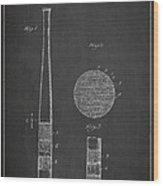 Baseball Bat Patent Drawing From 1920 Wood Print