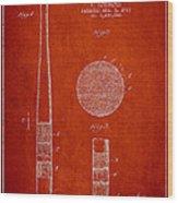 Baseball Bat Patent Drawing From 1923 Wood Print
