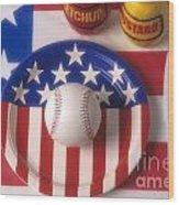 Baseball Dinner Wood Print