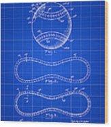 Baseball Patent 1927 - Blue Wood Print