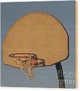 Basketball Goal At Sandy Point Wood Print