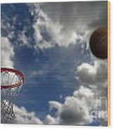 Basketball  Wood Print by Lane Erickson