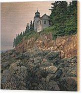 Bass Harbor Head Light II Wood Print
