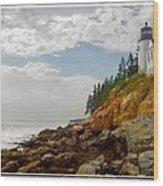 Bass Harbor Head Lighthouse Wood Print